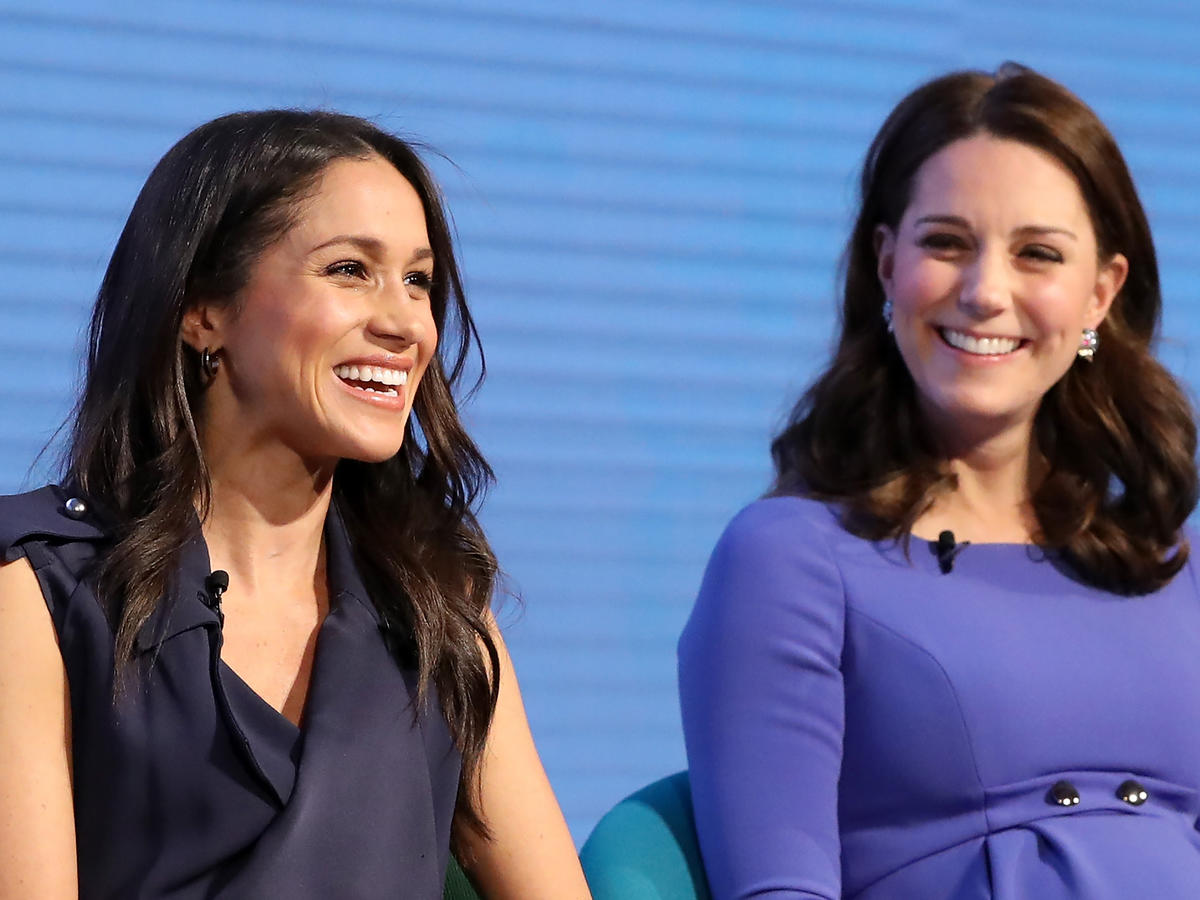 1805w Meghan Markle and Kate Middleton