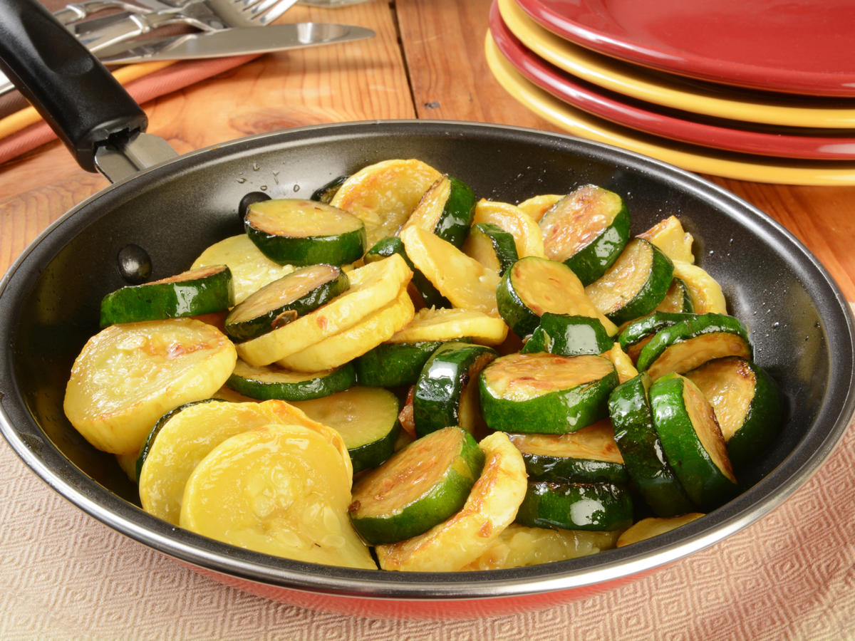Summer Squash in Frying Pan