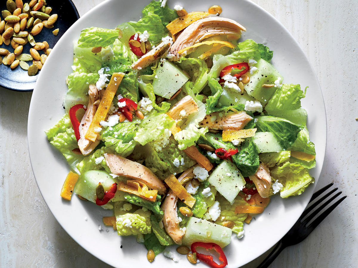 Mexican-Style Chicken and Honeydew Salad