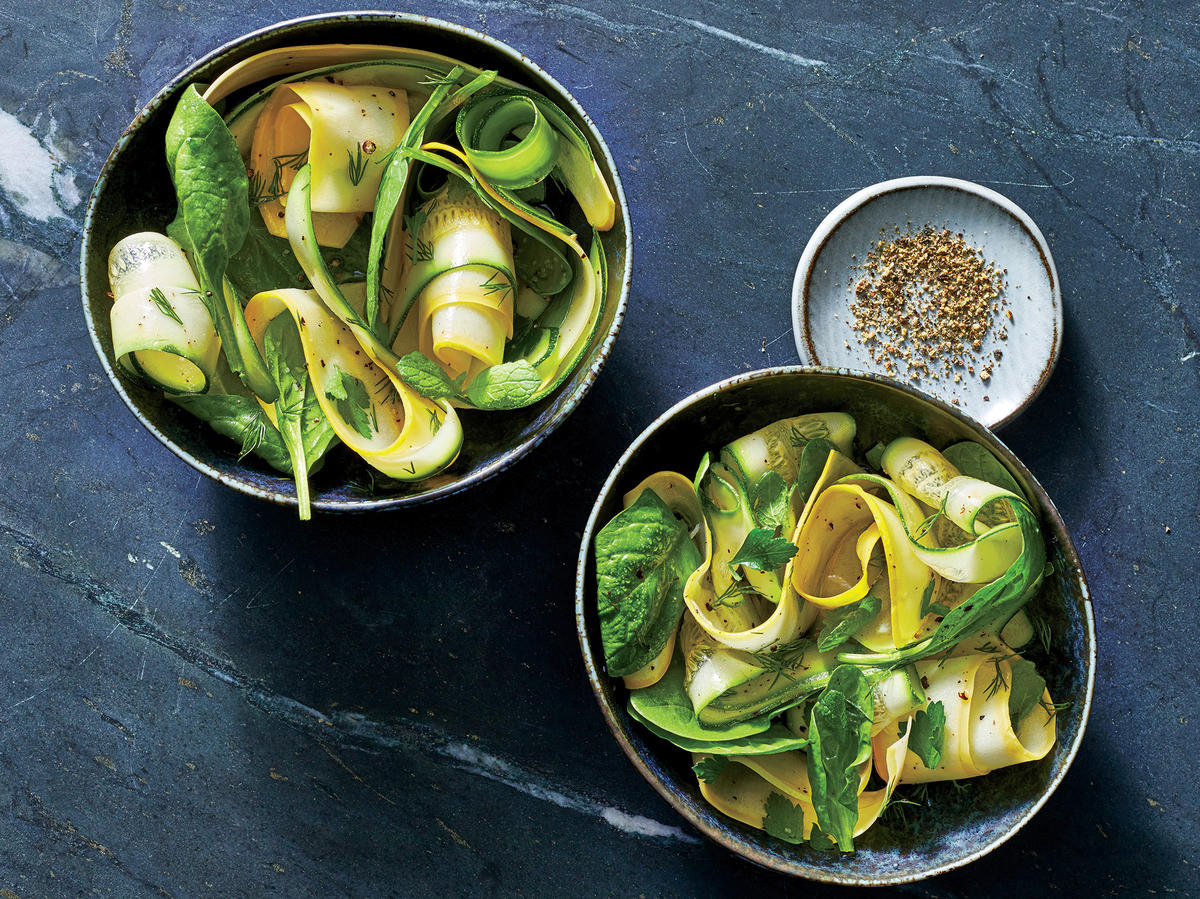 Squash-Ribbon Salad with Herbs
