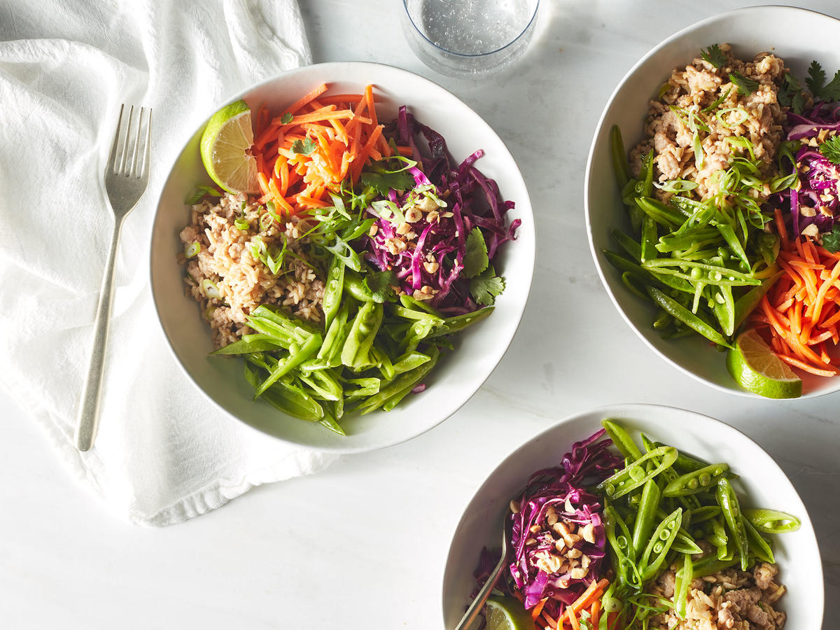 Super Crunchy Veggie Chicken Bowls
