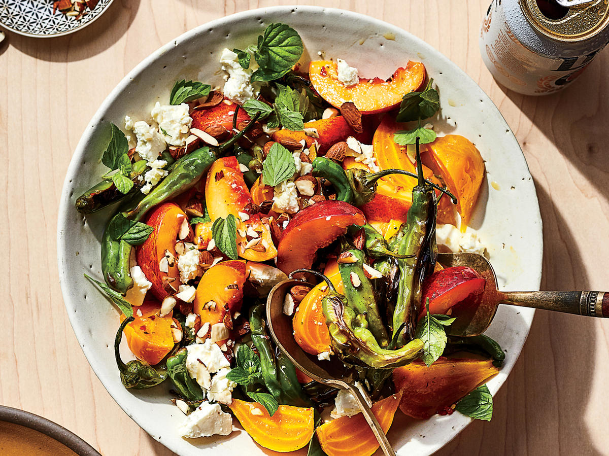 Beet Salad with Nectarines and Peppers