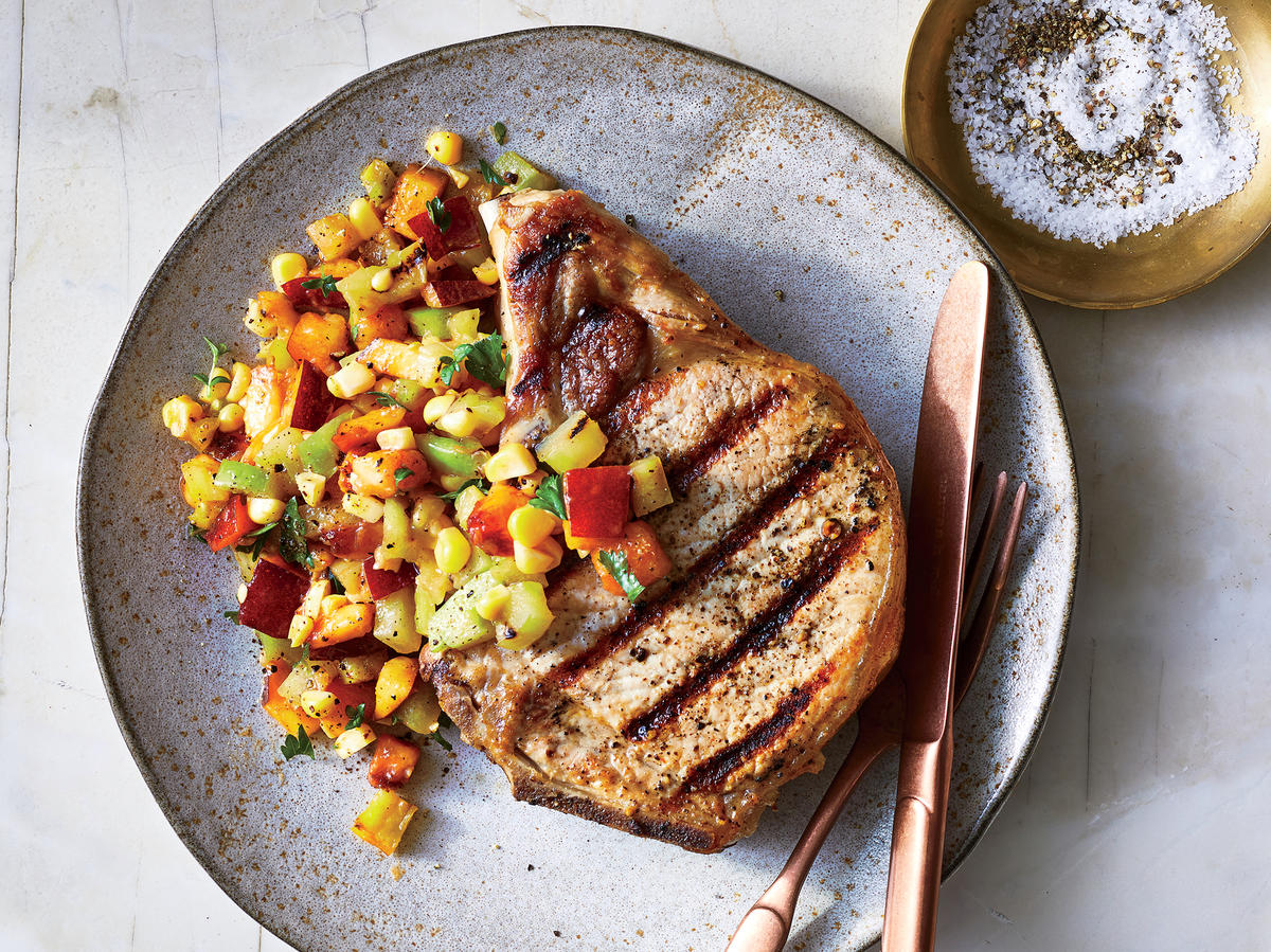 Pork Chops With Corn Relish