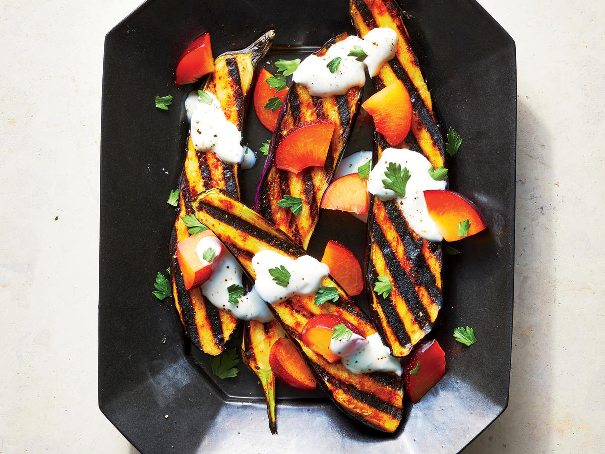 Spicy Eggplant with Plums