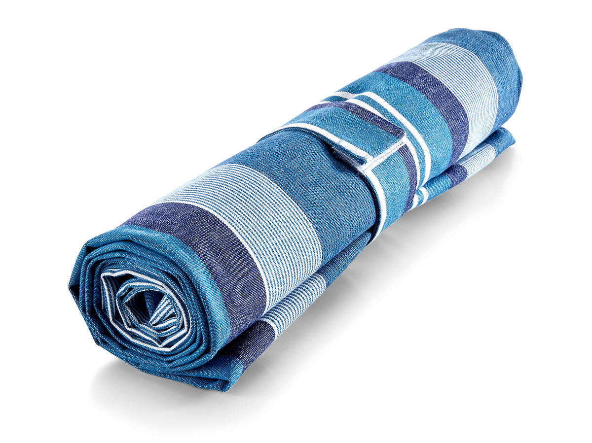 Water Stripe Blue Picnic Blanket
