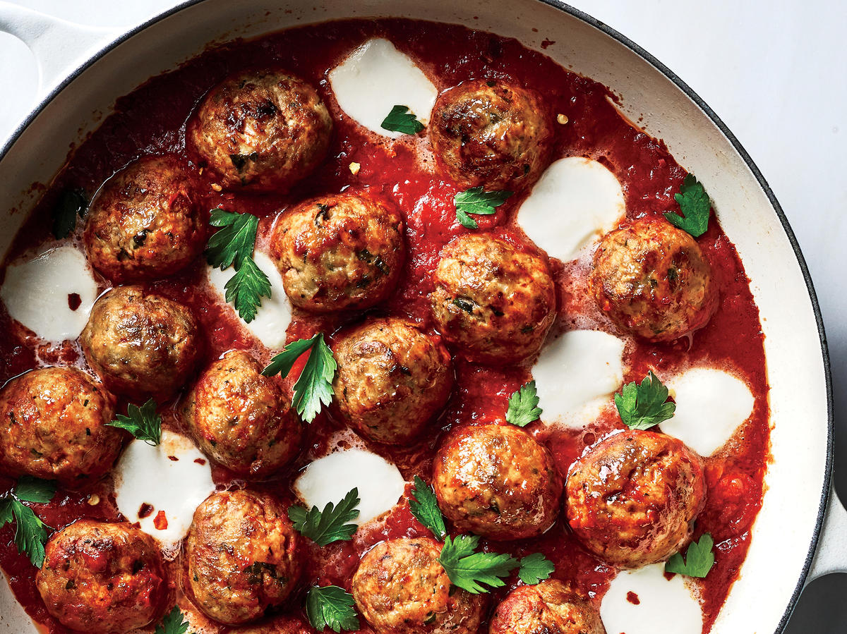 Cheesy Turkey Meatball Skillet