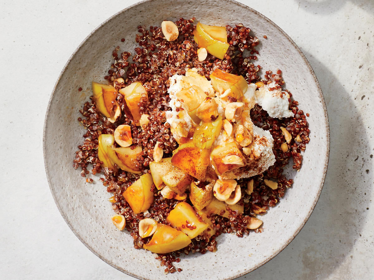 Big Batch Breakfast: Apple Quinoa Bowl With Cinnamon Ricotta