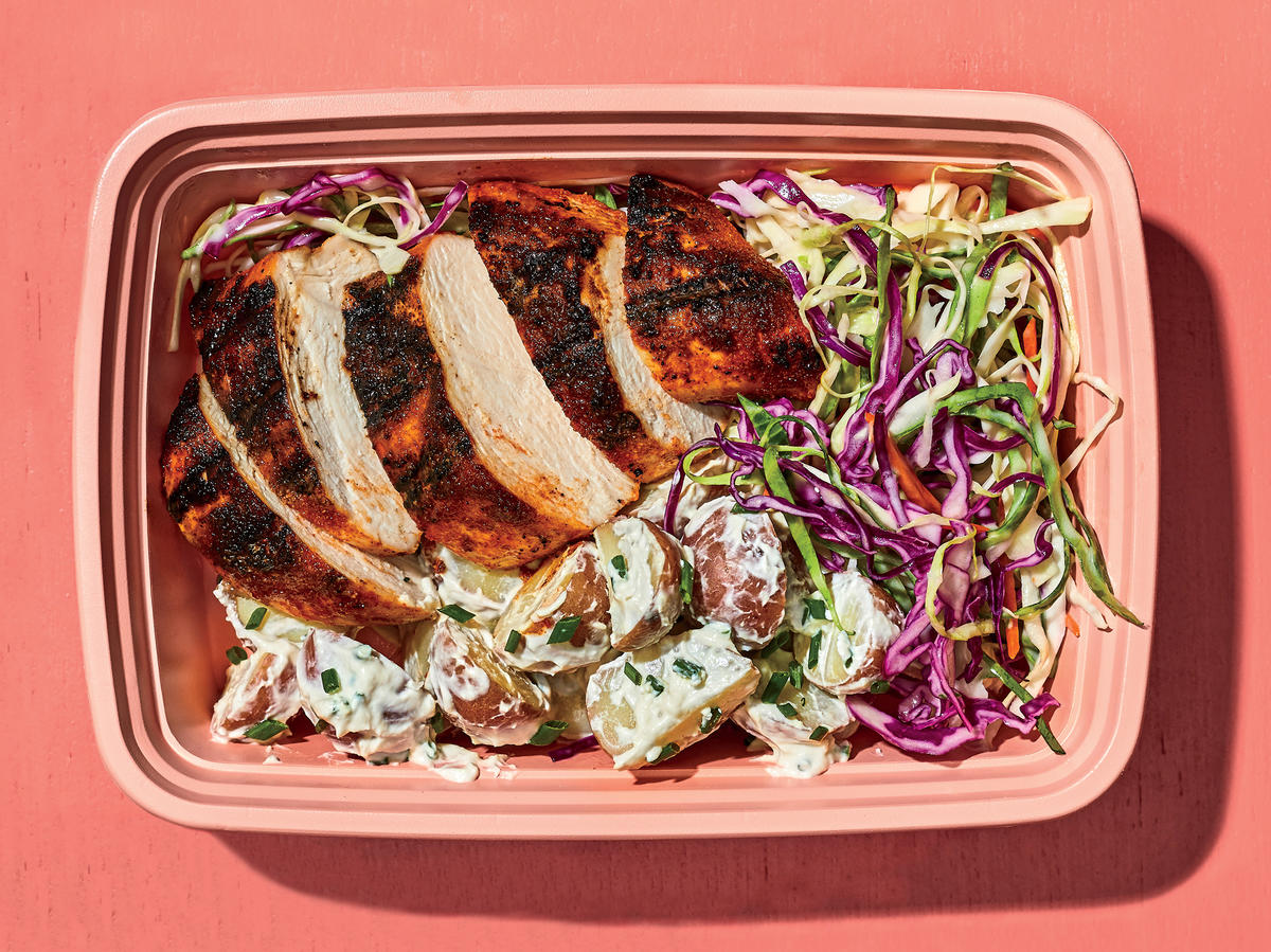 Thursday: Smoky Chicken With Potato Salad and Slaw