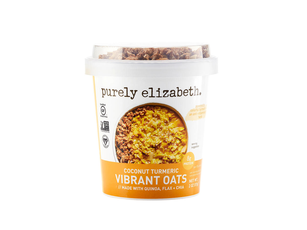 Purely Elizabeth Vibrant Oats Cup Coconut Turmeric