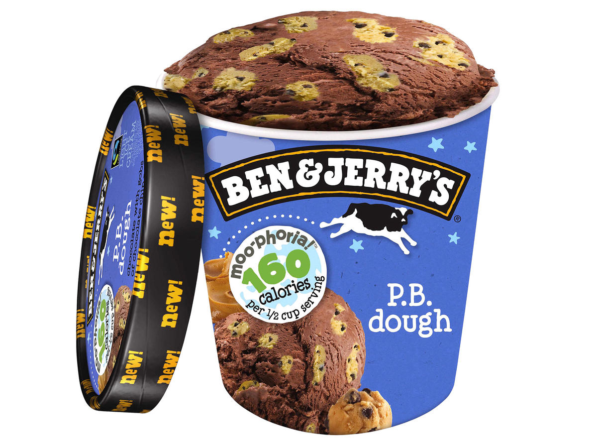 Ben & Jerry's Moo-Phoria Light Ice Cream - PB Dough