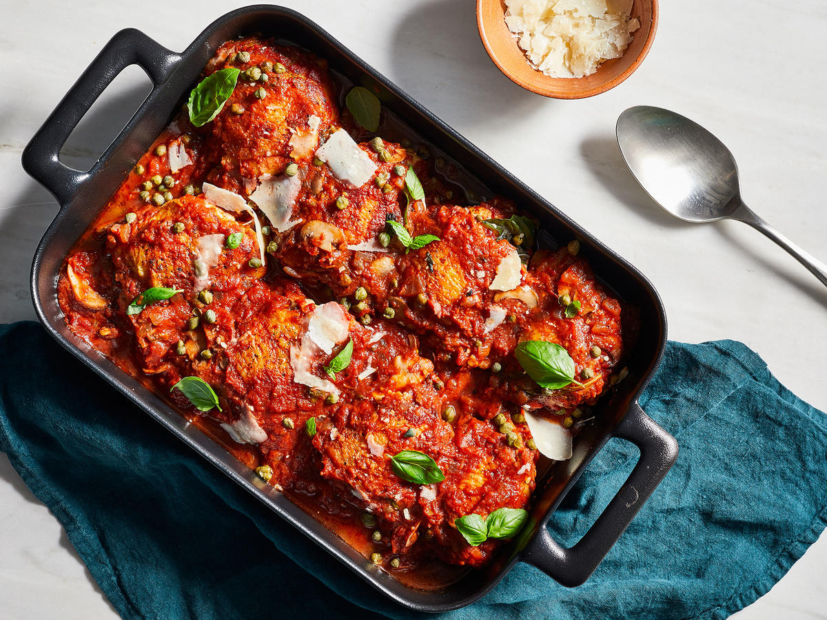 Big Batch Baked Chicken Cacciatore