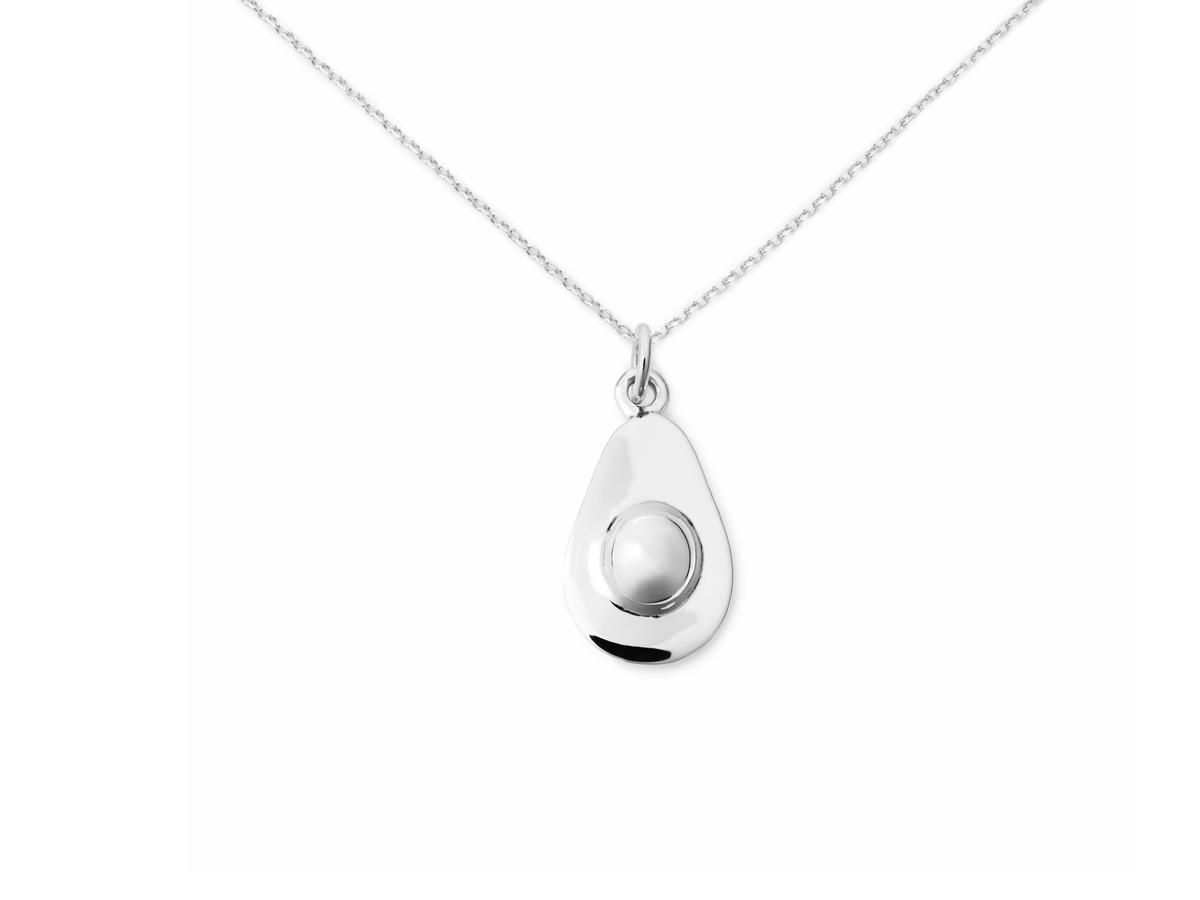 Delicacies Sterling Silver Avocado Necklace