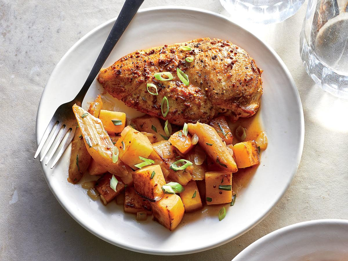 Beer-Braised Chicken and Root Vegetables