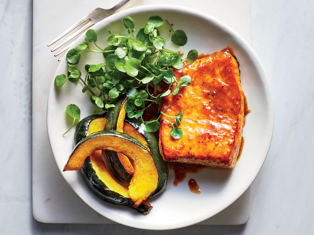Friday: Maple-Miso Salmon With Roasted Acorn Squash