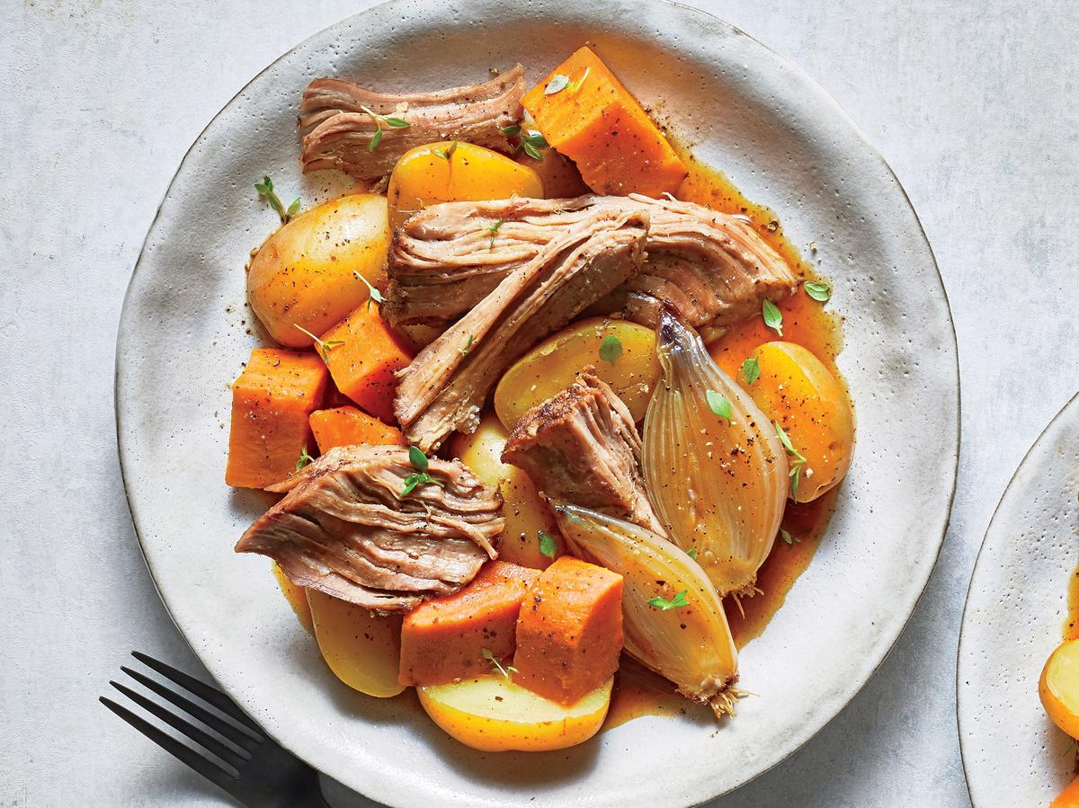 Braised Pork with Potatoes and Shallots