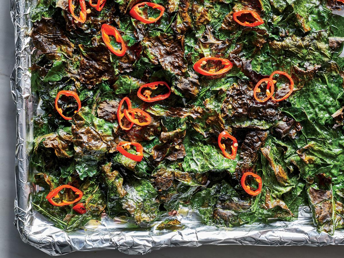Frizzled Kale with Chiles