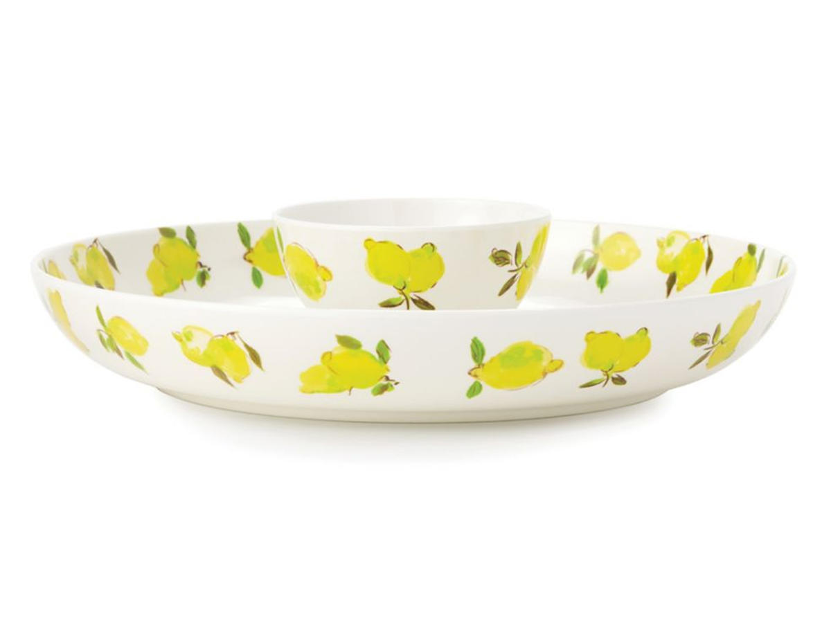 kate spade chip and dip bowl