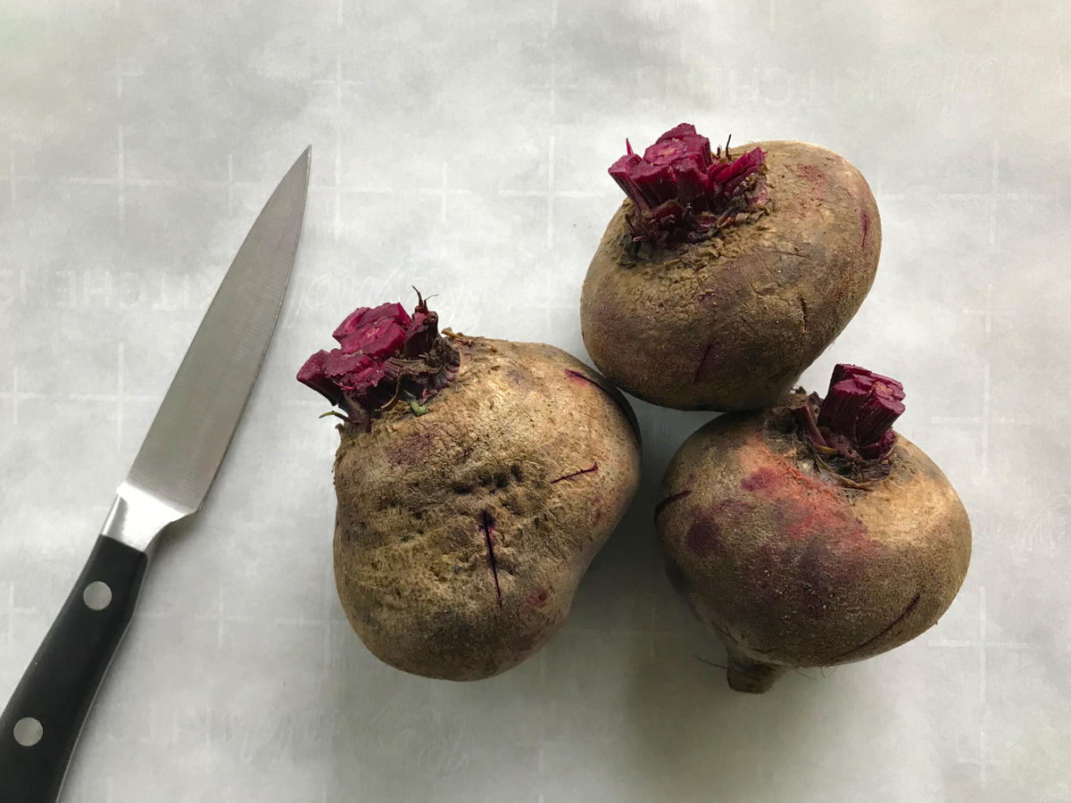 Beets on Parchment Paper