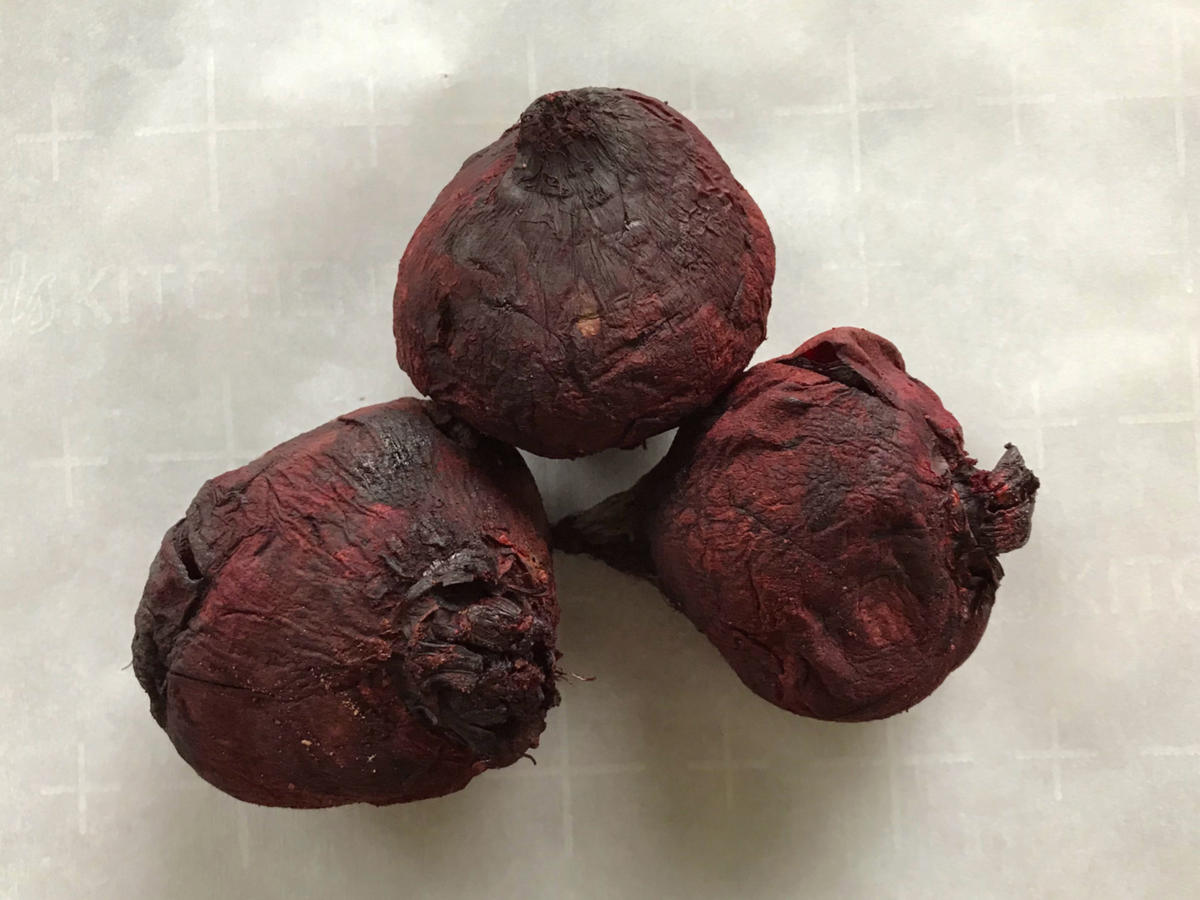 Unwrapped Cooked Beets