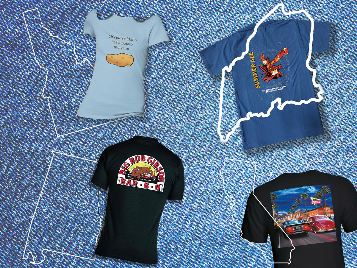 Food T-shirts From All 50 states