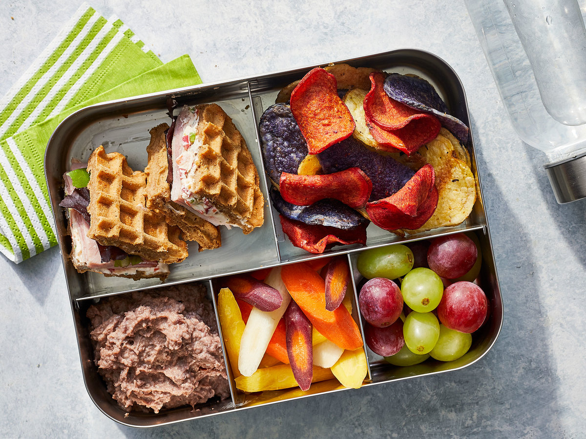Make Your Kid a Multigrain Waffle-Sandwich With Veggie Cream Cheese