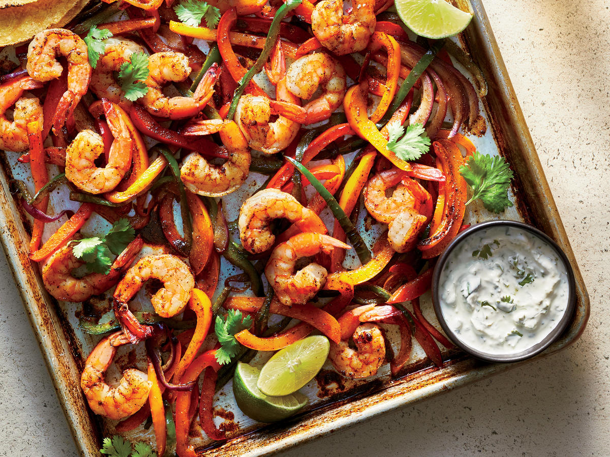 These 20-Minute Sheet Pan Shrimp Fajitas Are Perfect for Easy Weeknight Dinners