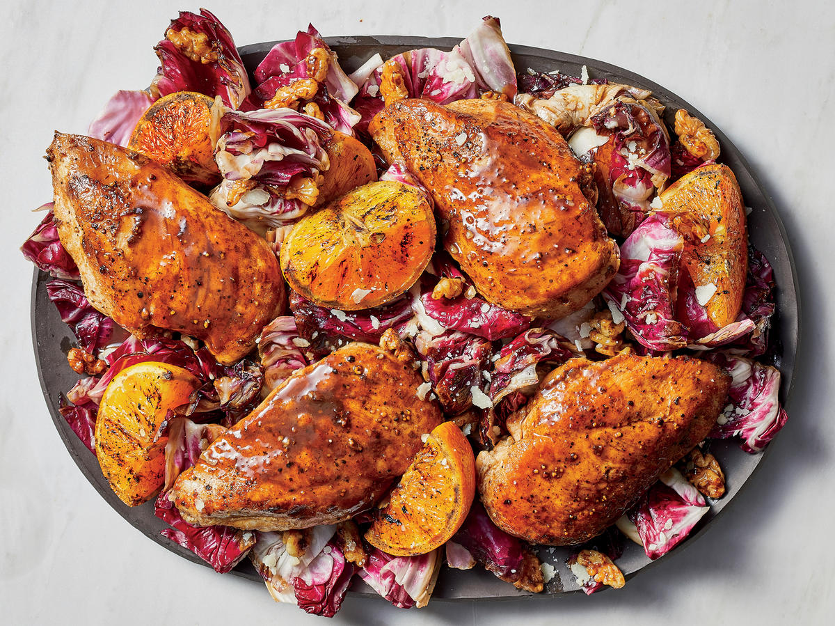 Make Balsamic Chicken With Oranges and Radicchio in 20 Minutes