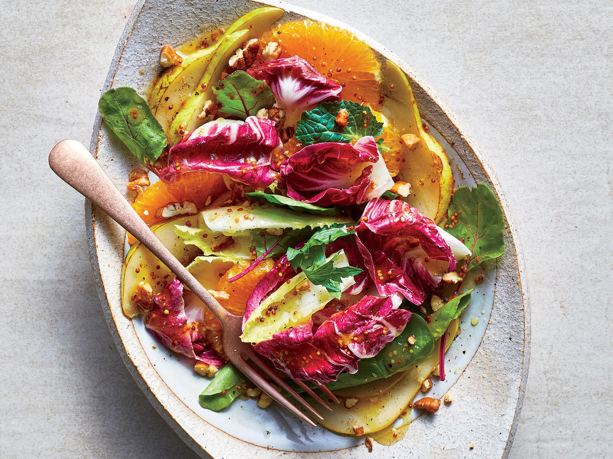 Radicchio, Endive and Fall Fruit Salad