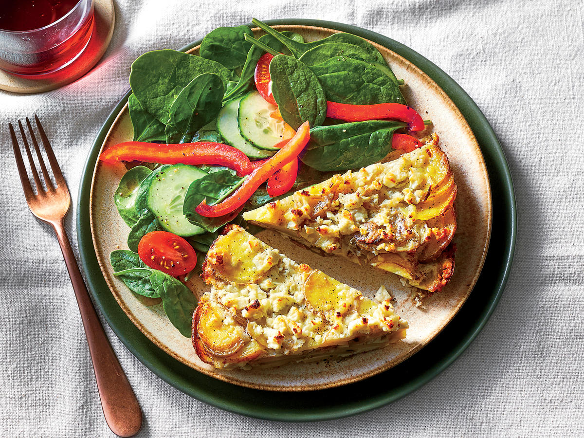 Tuesday: Potato Gratin Quiche With Spinach Salad