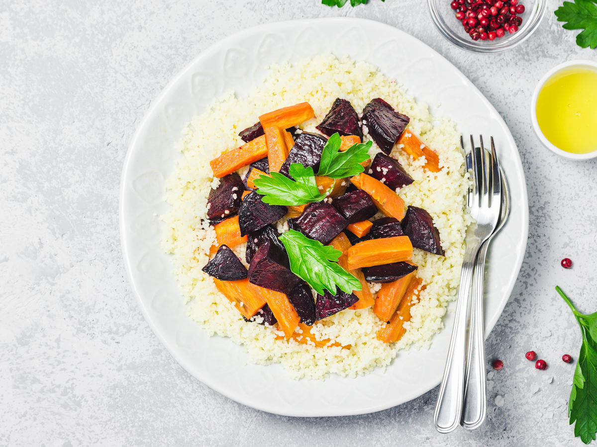 Couscous With Beets and Carrots EVERGREEN