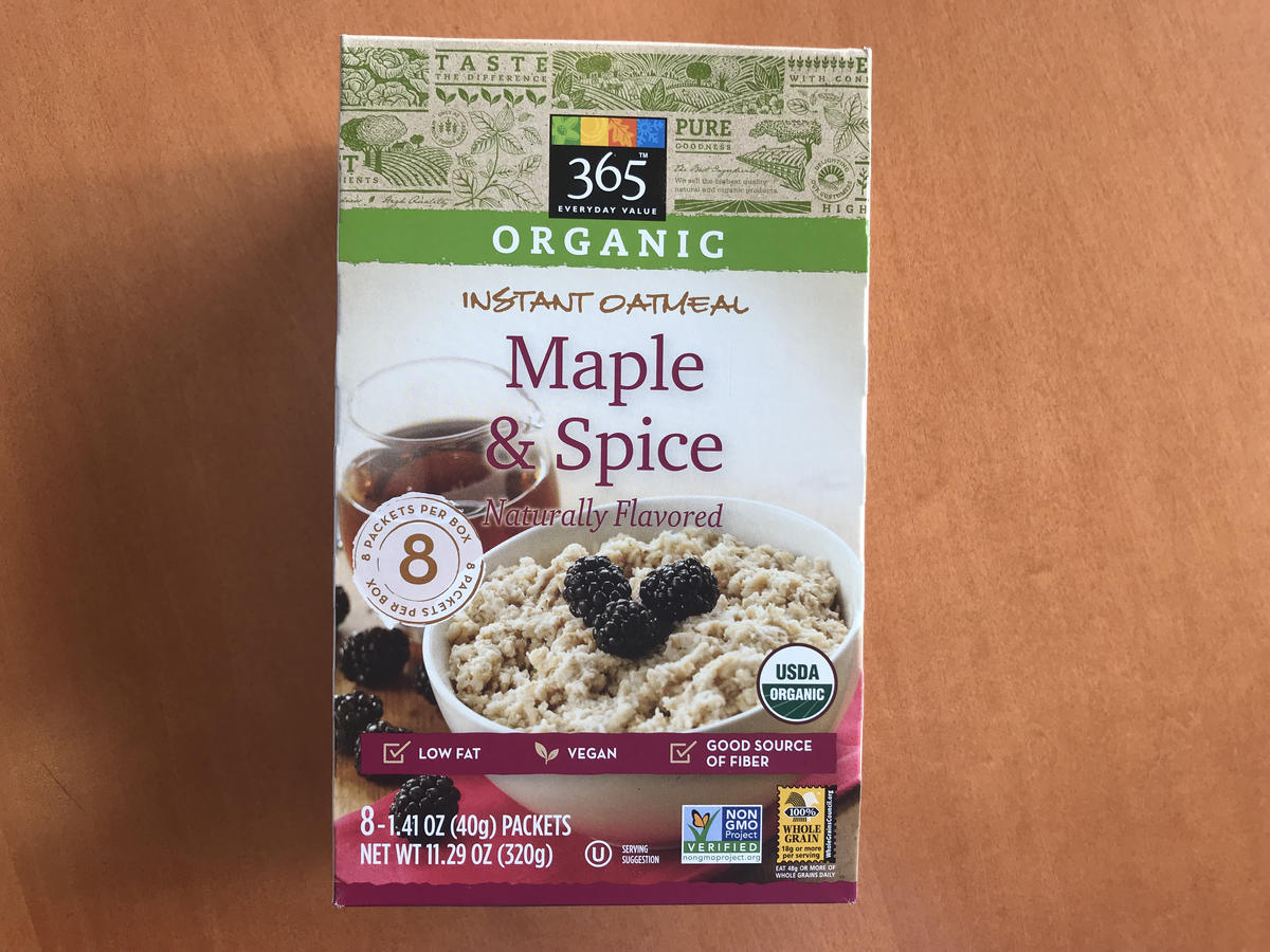 1810w maple instant oatmeal