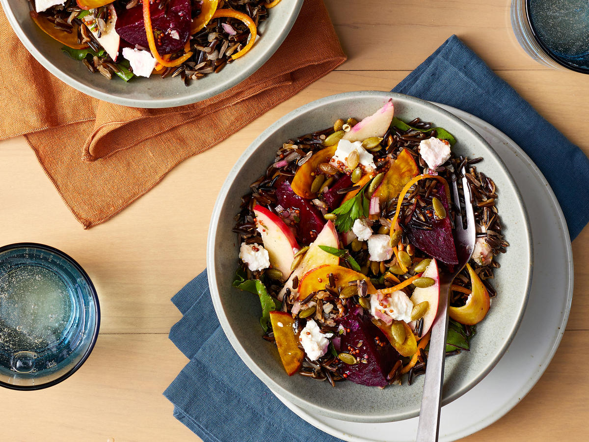 Crunchy Autumn Veggie and Wild Rice Grain Bowl