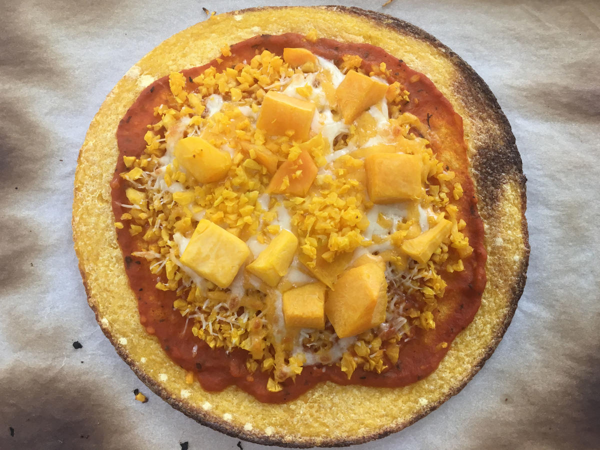 1810w Trader Joe's Butternut Squash Pizza Cooked