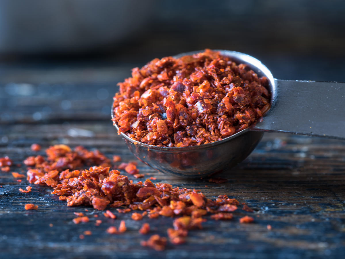 Aleppo Pepper in Measuring Cup