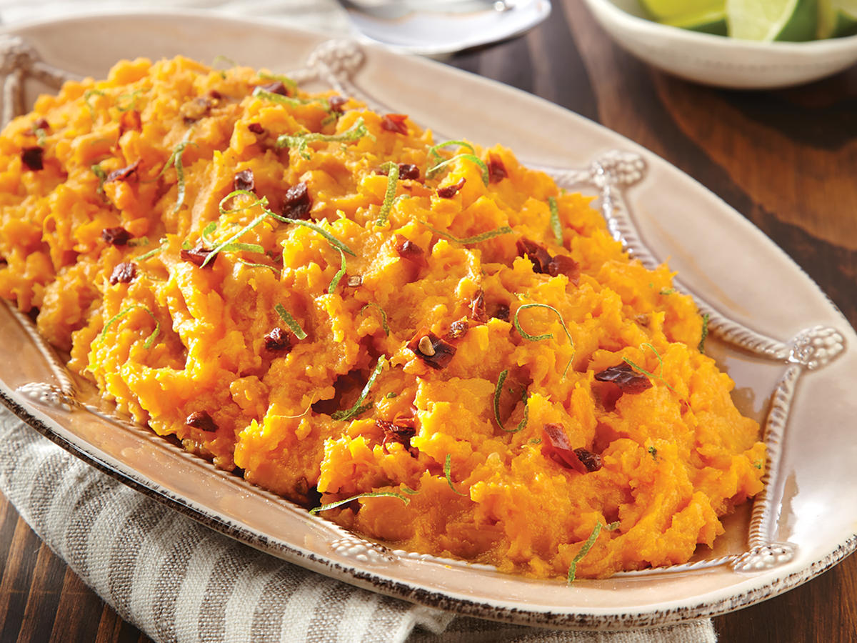 Chipotle-Lime Mashed Sweet Potatoes