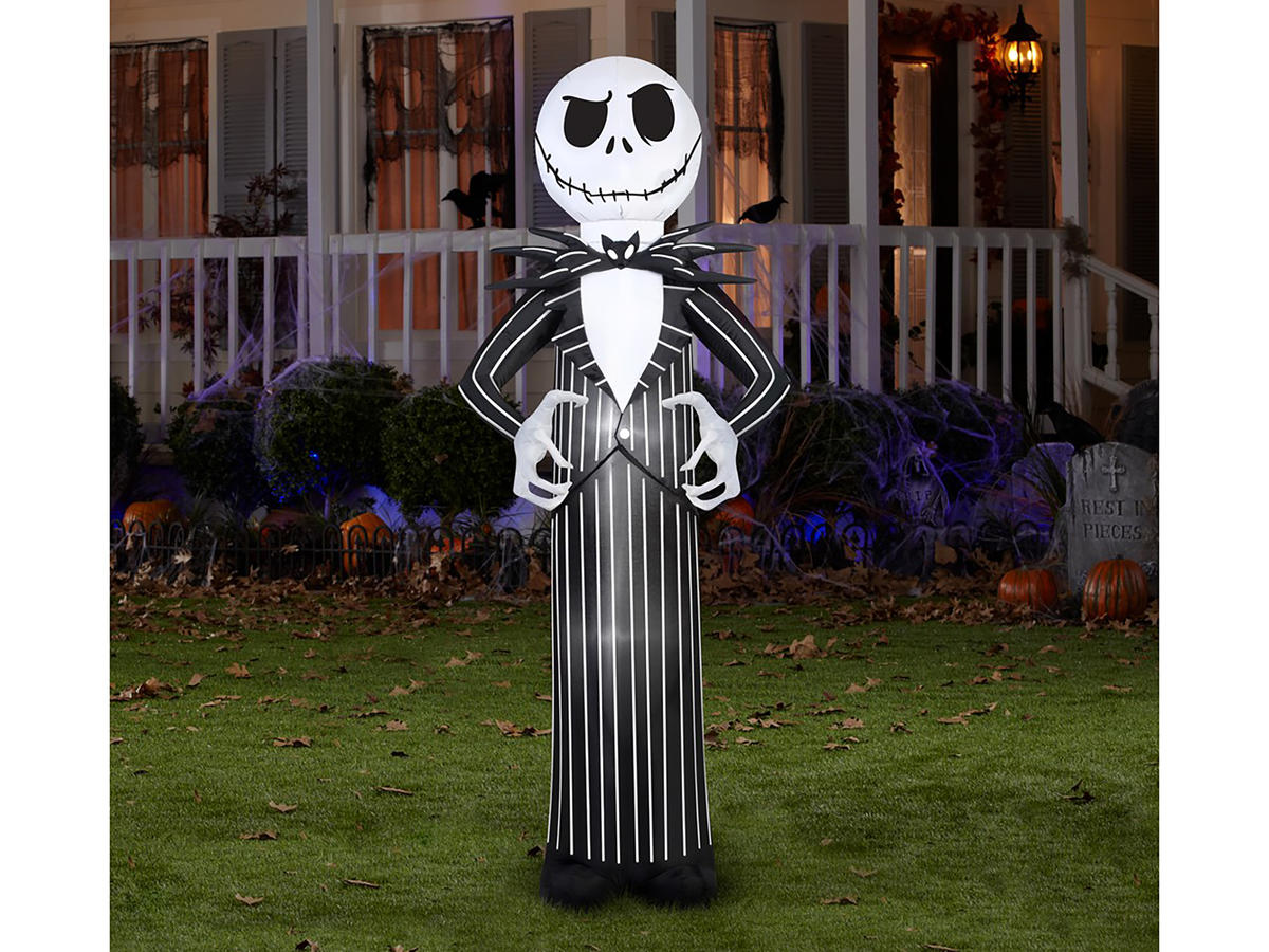 inflatable jack skellington from disneys nightmare before christmas jack