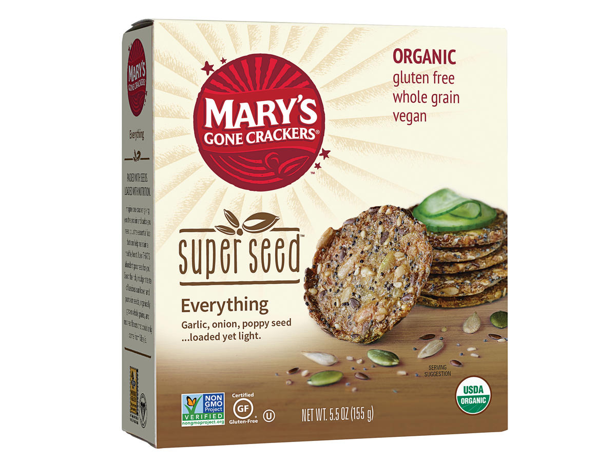 Mary's Gone Crackers Super Seed Everything Crackers