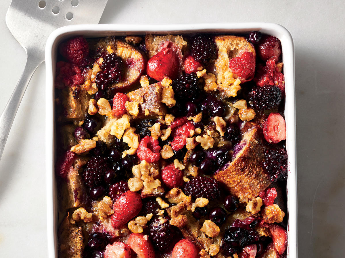 Berry-and-Walnut French Toast Casserole