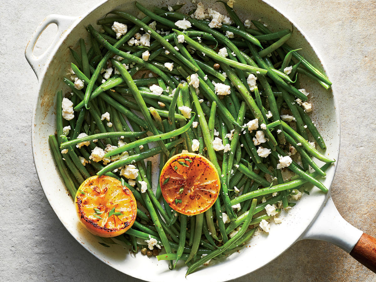 Lemon-Feta Green Beans