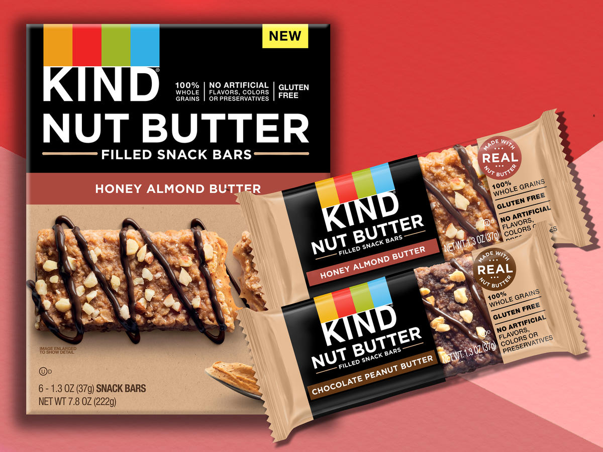 KIND Launches New Nut Butter Snack Bars—And They Have Less Than 200 Calories