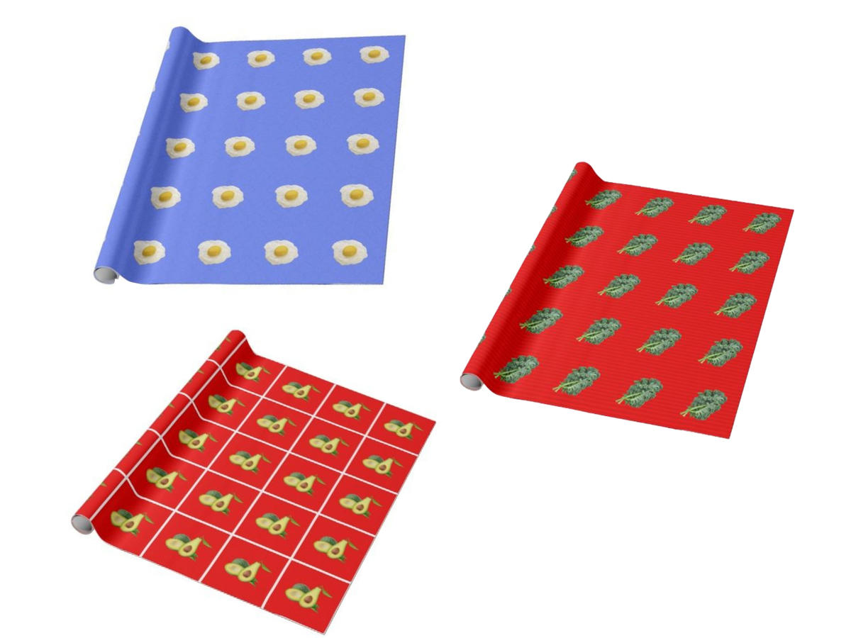 Let Your Foodie Flag Fly This Holiday Season With Customized Gift Wrap