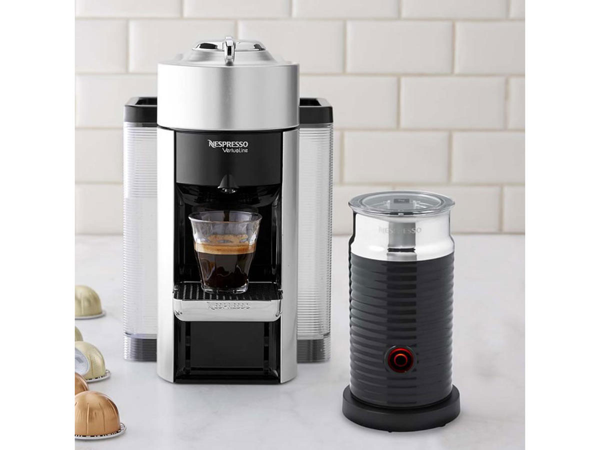 1812w Nespresso Vertuo Coffee Maker and Espresso Machine With Aeroccino Milk Frother