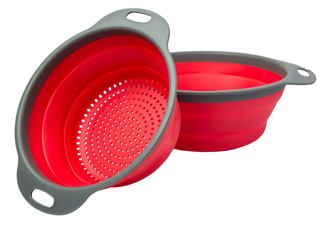 2 Collapsible Colanders (Strainers) Set By Comfify