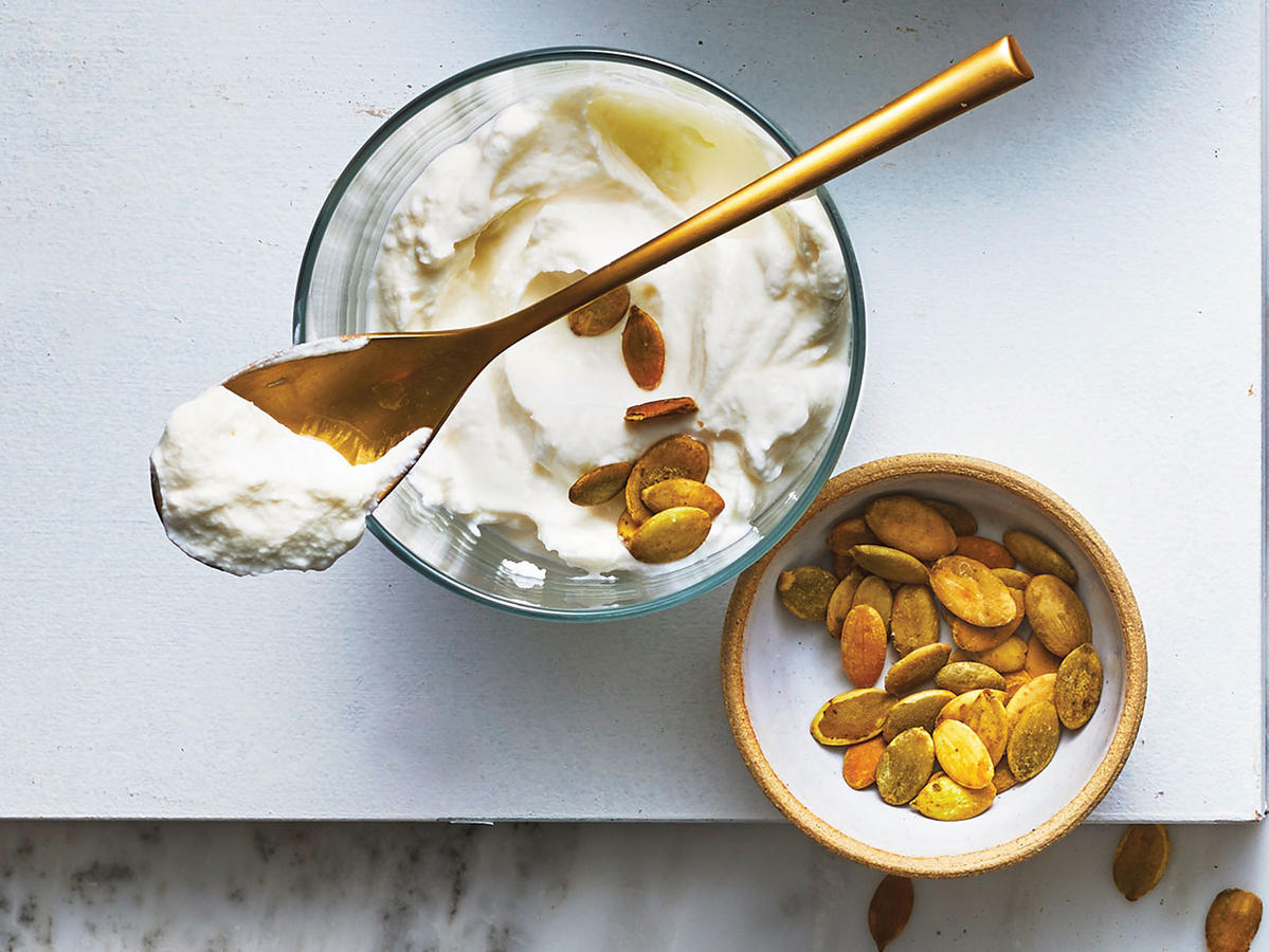 Yogurt With Pumpkin Seeds