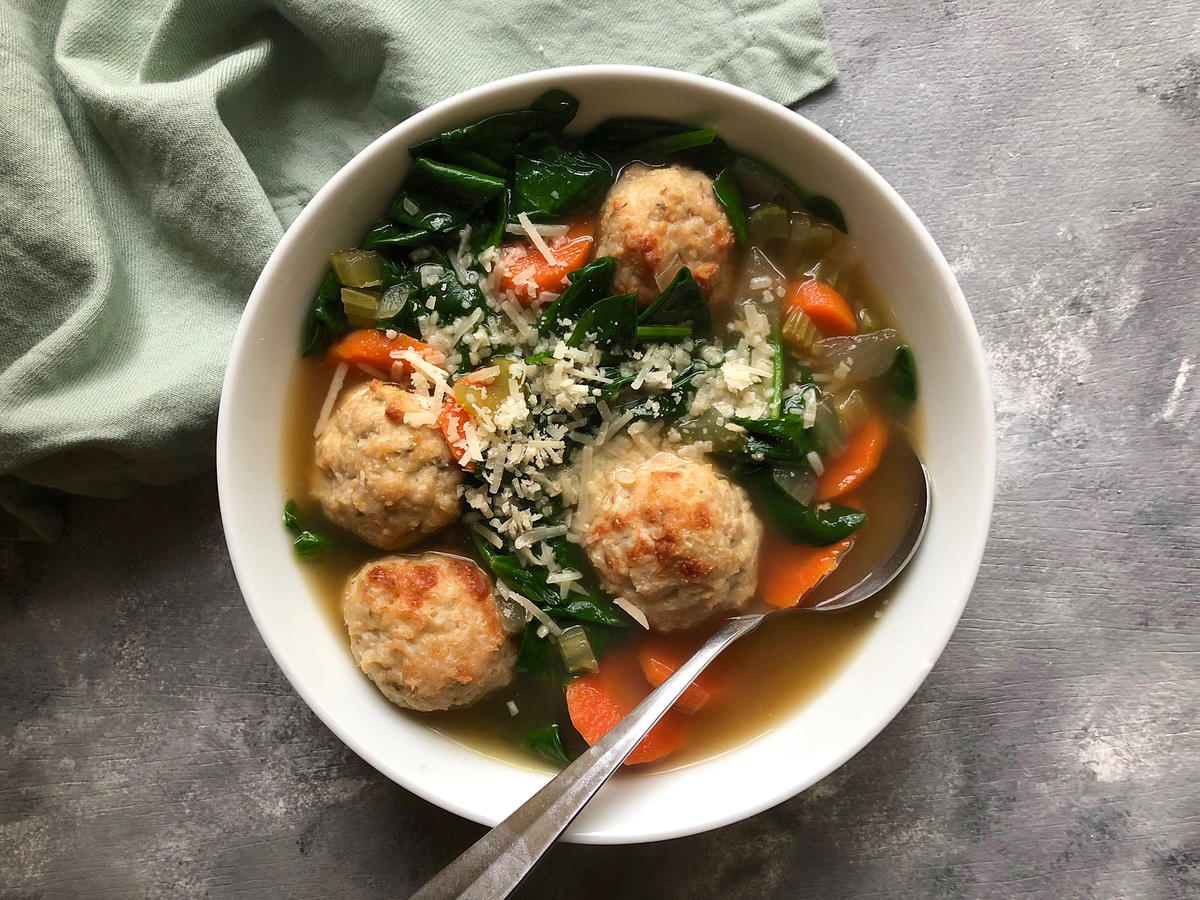 Chicken Meatball and Vegetable Soup