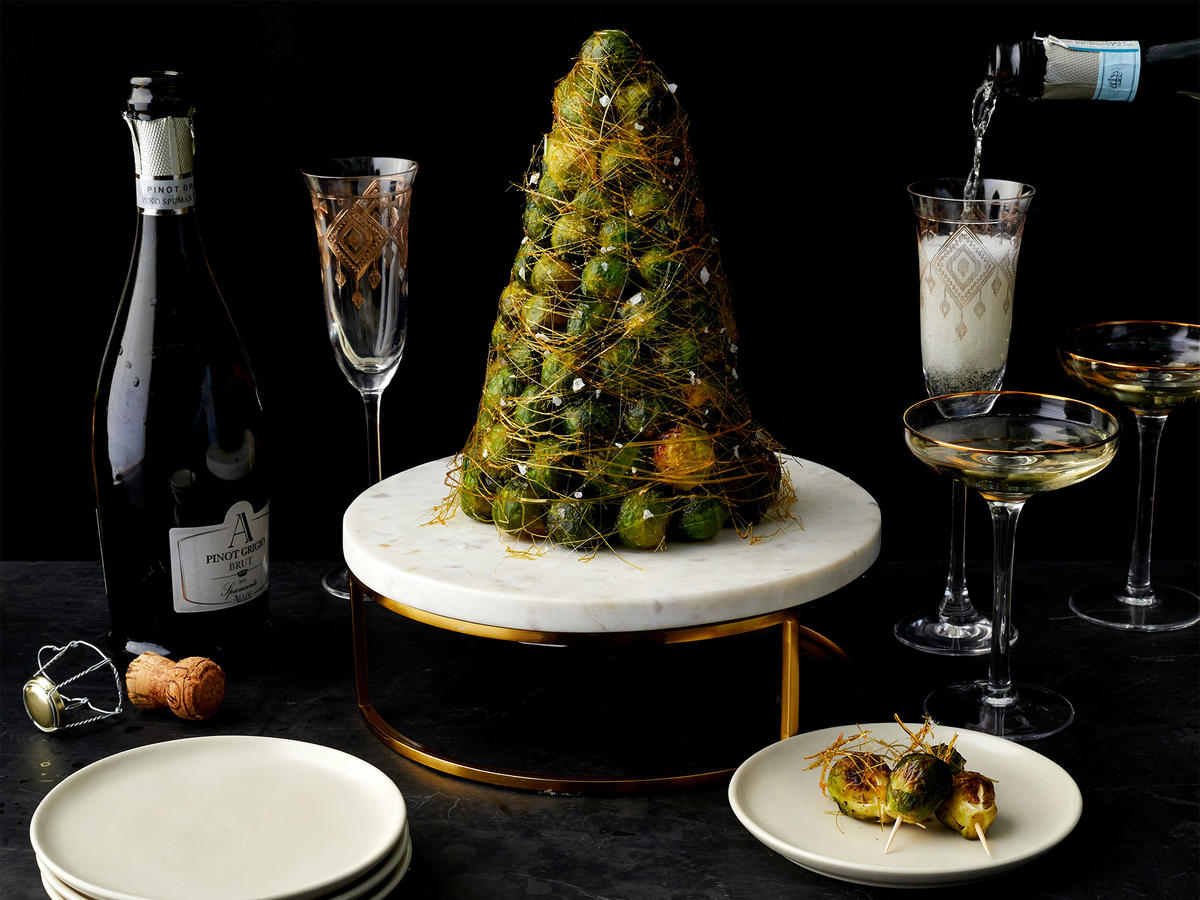 Brussels Sprout Croquembouche