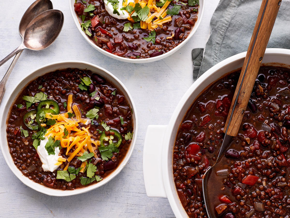 One-Pot Vegetarian Lentil Chili