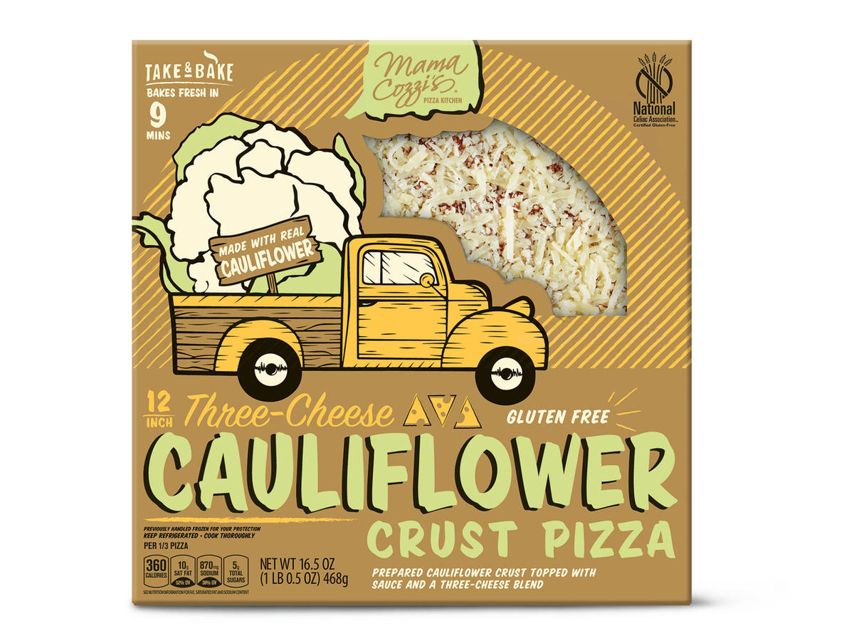 1902w Aldi cauliflower crust pizza