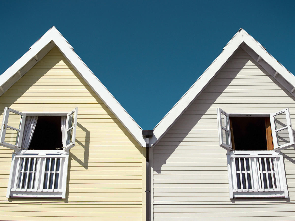 houses with open windows