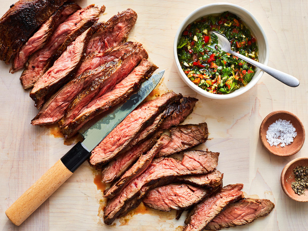 Skirt Steak With ChimichurriSauce